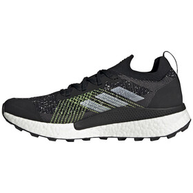 adidas TERREX Two Ultra Parley Trail Running Shoes Men core black/feather white/solar yellow